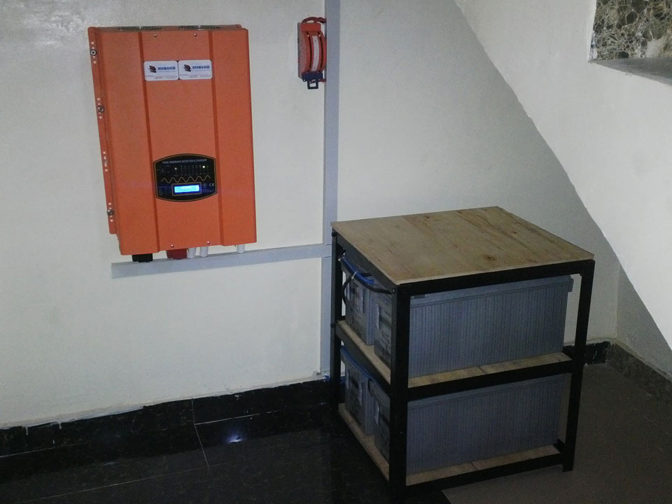 10KVA 48V Pure Sine-wave online Wall mount Inverter (Olur)