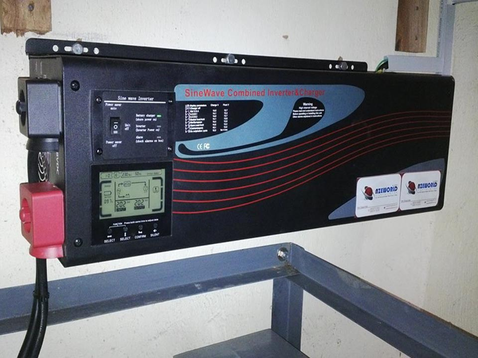 7.5KVA 48V Pure Sine-wave online Wall mount Inverter (Gudab)